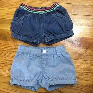 2 pairs shorts